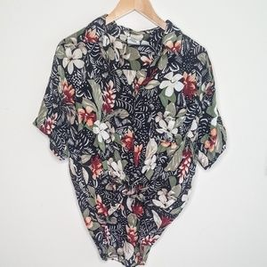 Vintage Oversized Hawaiian Floral Button Down